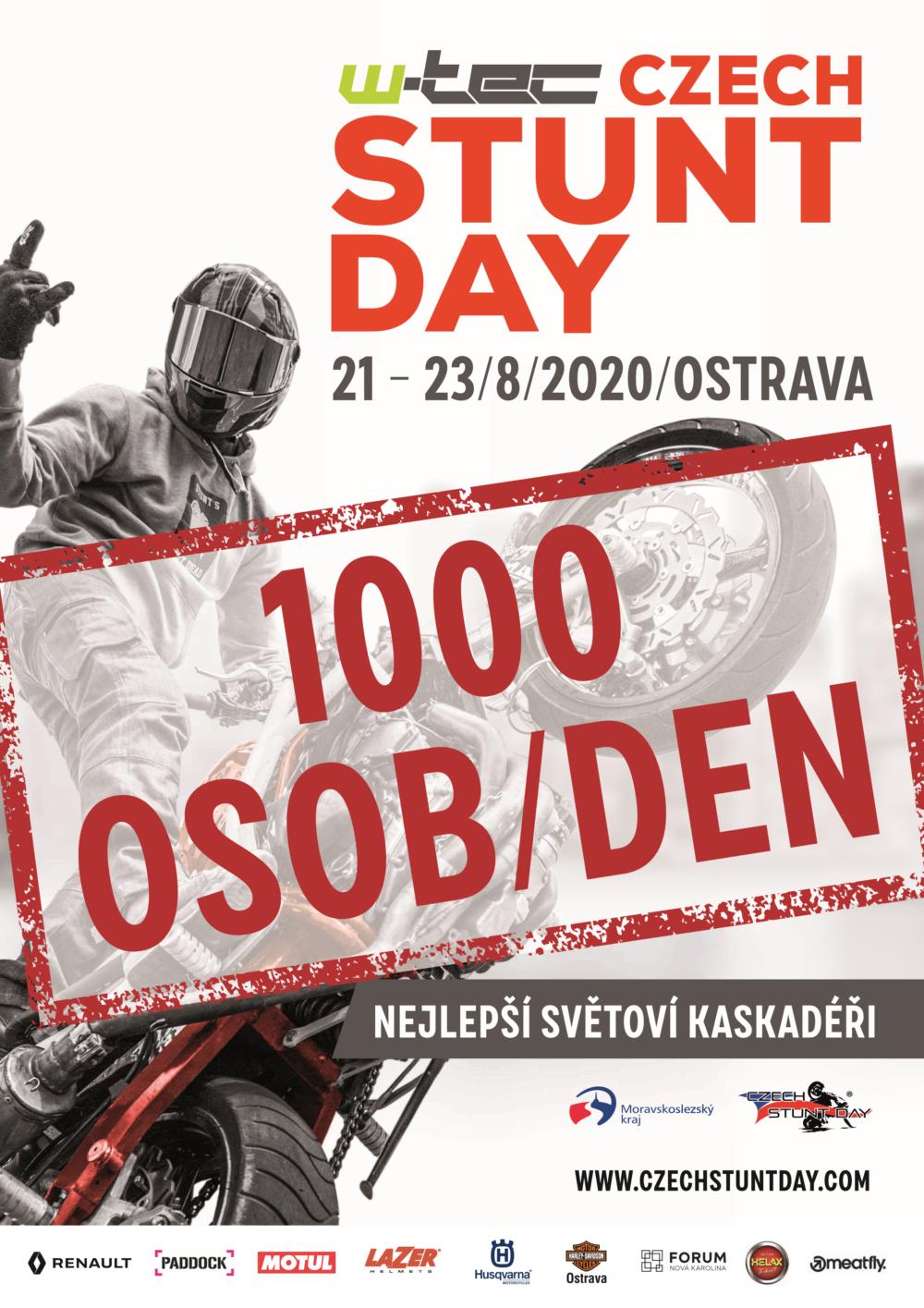 """<p>📣PROHLÁŠENÍ📣 Milí návštěvníci a věrní fanoušci, dle posledních zpráv bychom Vás rádi informovali o budoucnosti Czech Stunt Day 2020. """"Ministerstvo zdravotnictví nařizuje, že s účinností ode dne 27. července 2020 od 0:00 hod., do odvolání tohoto mimořádného opatření se zakazují nebo omezují divadelní, hudební, filmová a další umělecká představení, sportovní, […]</p>"""