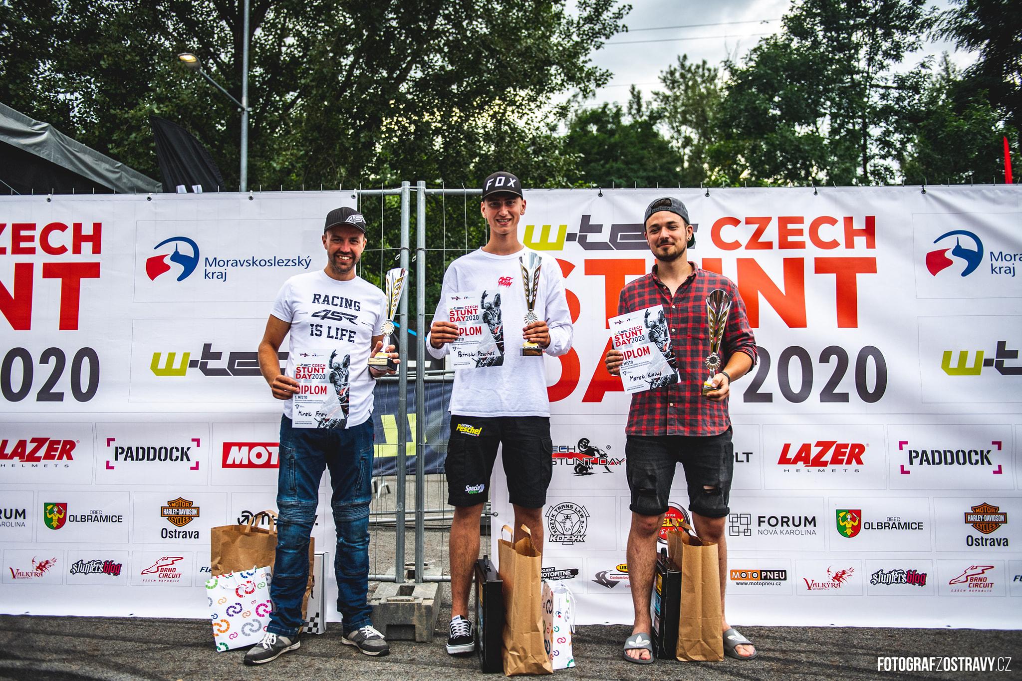 <p>Czech Stunt Day 2020 je za námi a s ním i výsledky MČR a World Stunt Riding Championship! Mistrovství ČR ve Stunt Ridingu 1. místo – Mirek Frey, 112.63 bodů 2. místo – Patrick Peschel, 109.08 bodů 3. místo – Marek Kalus, 89.16 bodů  World Stunt Riding Championship 1. […]</p>