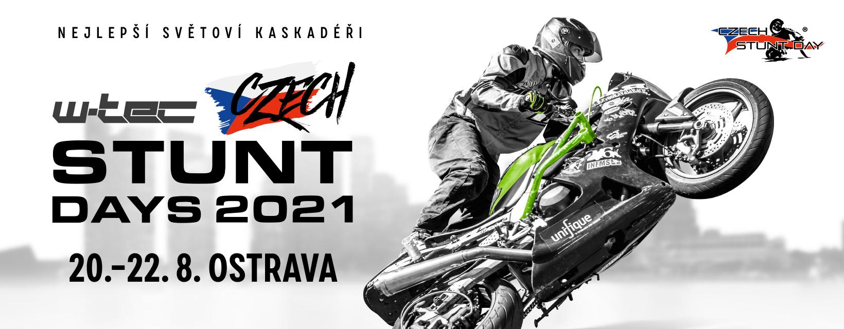 <p>Netajíme se tím, že 9.ročník soutěže Czech Stunt Days 2021, připravujeme! I přes nepřízeň veškerých událostí minulého roku, se nám ročník 2020 náramně vyvedl. Jsme přesvědčeni, že letos naběhneme opět do plného režimu, a ve dnech od 20. – 22.8.2021 přivítáme v Ostravě ty nejlepší moto kaskadéry z celého světa. […]</p>
